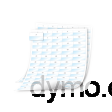 DYMO 1908555 XTL 41x23mm Cable Wrap Sheet Labels