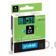 Dymo S0720740 D1 40919 Tape 9mm x 7m Black on Green