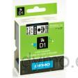 Dymo S0720920 D1 53710 Tape 24mm x 7m Black on Transparent