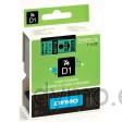 Dymo S0720990 D1 53719 Tape 24mm x 7m Black on Green