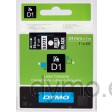 Dymo S0721010 D1 53721 Tape 24mm x 7m White on Black