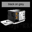 DYMO 1868801 XTL All-Purp Vinyl 12mm Black on Grey