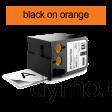 DYMO 1868766 XTL All-Purpose Vinyl 12mm Black on Orange