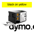 DYMO 1868773 XTL All-Purpose Vinyl 24mm Black on Yellow