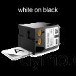 DYMO 1868799 XTL All-Purp Vinyl 41mm White on Black