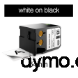 DYMO 1868800 XTL All-Purp Vinyl 54mm White on Black
