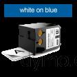 DYMO 1868780 XTL All-Purp Vinyl 54mm White on Blue