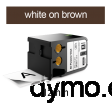DYMO 1868786 XTL All-Purp Vinyl 12mm White on Brown