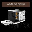 DYMO 1868789 XTL All-Purp Vinyl 41mm White on Brown