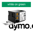 DYMO 1868783 XTL All-Purp Vinyl 24mm White on Green