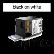 DYMO 1868718 XTL Shrink Tube 12x34mm Black on White