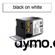 DYMO 1868720 XTL Shrink Tube 54x34mm Black on White