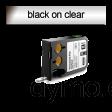 DYMO 1868739 XTL Permanent Flat 9mm Black on Clear