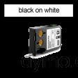 DYMO 1868737 XTL Permanent Flat 12mm Black on White