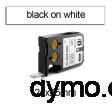 DYMO 1868668 XTL Label 25x25mm Black on White