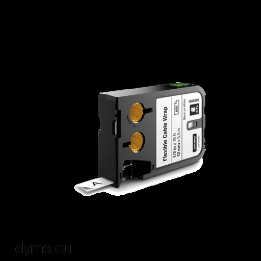 DYMO 1868807 XTL Flexible Cable Wrap 19mm Black on White