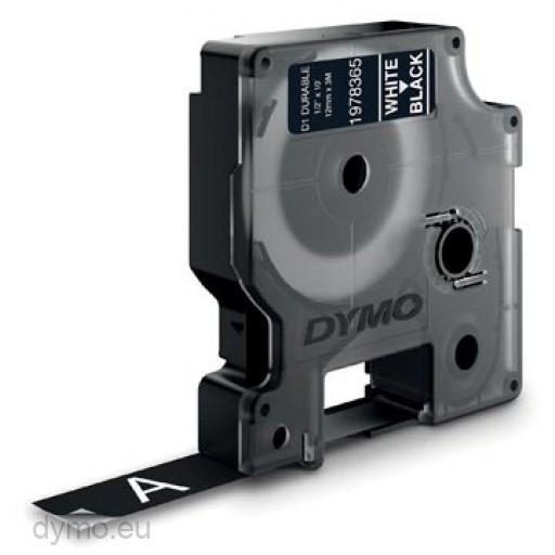 Dymo 1978365 duurzame D1 tape wit op zwart 12mm