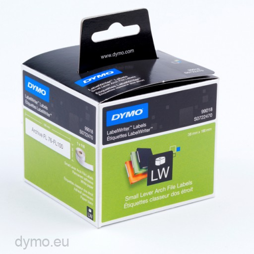 Dymo 99018 Small Lever Archive File Labels 38x190mm