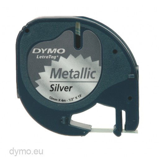 LetraTag tape 91208 Metallic Silver