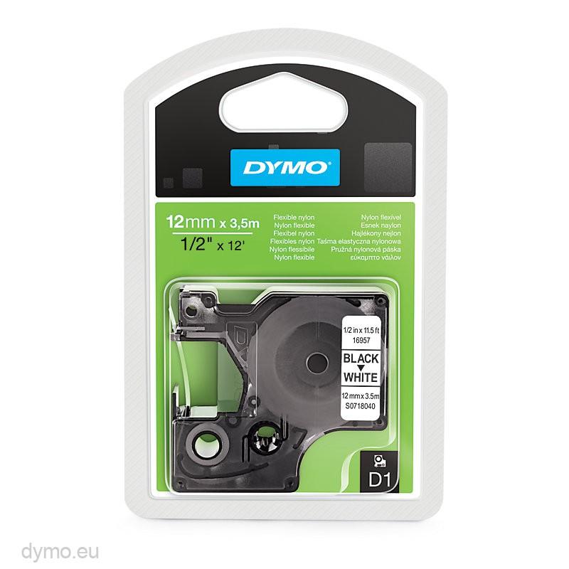 Dymo S0718040 16957 D1 Flexible Nylon Tape 12mm X 3,5m