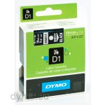 Dymo S0720910 D1 45811 Tape 19mm x 7m White on Black