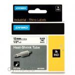 Dymo RHINO 18055 heat shrink tubing black on white 12mm
