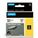 Dymo RHINO 18053 heat shrink tubing black on white 9mm