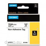 Dymo RHINO 18112 Non-adhesive tag black on white 9mm = EOL