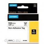 Dymo RHINO 18111 Non-adhesive tag black on white 6mm