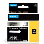 Dymo RHINO 18486 permanent polyester black on metallic 12mm