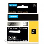 Dymo RHINO 18485 permanent polyester black on metallic 9mm