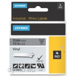 Dymo RHINO 1805413 vinyl black on grey 12mm