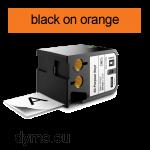 DYMO 1868770 XTL All-Purpose Vinyl 54mm Black on Orange