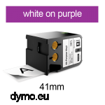 DYMO 1868794 XTL All-Purpose Vinyl 41mm White on Purple