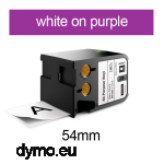DYMO 1868795 XTL All-Purp Vinyl 54mm White on Purple