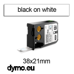DYMO 1868707 XTL Cable Wrap 38x21mm Black on White