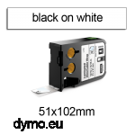 DYMO 1868712 XTL Cable Wrap 51x102mm Black on White