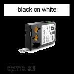 DYMO 1868666 XTL Label 12x25mm Black on White