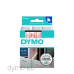 Dymo S0720550 D1 45015 Tape 12mm x 7m Red on White