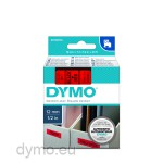 Dymo S0720570 D1 45017 Tape 12mm x 7m Black on Red