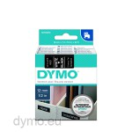 Dymo S0720610 D1 45021 Tape 12mm x 7m White on Black