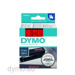 Dymo S0720720 D1 40917 Tape 9mm x 7m Black on Red