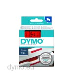 Dymo S0720870 D1 45807 Tape 19mm x 7m Black on Red