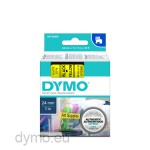 Dymo S0720980 D1 53718 Tape 24mm x 7m Black on Yellow