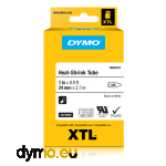 DYMO 1868809 XTL Heat-Shrink Tube 6mm Black on White
