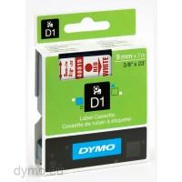 Dymo S0720700 D1 40915 Tape 9mm x 7m Red on White