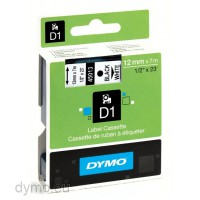 Dymo S0720530 D1 45013 Tape 12mm x 7m Black on White