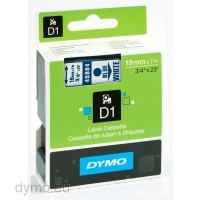 Dymo S0720840 D1 45804 Tape 19mm x 7m Blue on White
