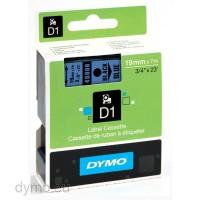 Dymo S0720860 D1 45806 Tape 19mm x 7m Black on Blue