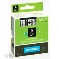 Dymo S0720920 D1 53710 Tape 24mm x 7m Black on Transparent